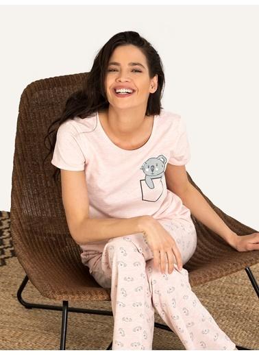 Nbb Koala Pijama Takım 67135 Pembe